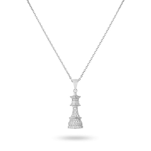 The Queen Power - White Gold White Diamonds Necklace