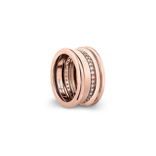 Regina - Rose Gold White Diamonds Ring