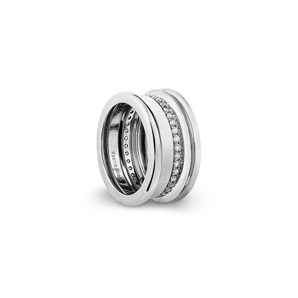 Regina - White Gold White Diamonds Ring