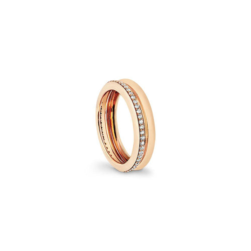 Prima - Yellow Gold White Diamonds Ring