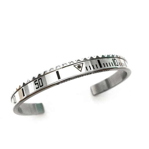 Classic Steel Bangle White Insert