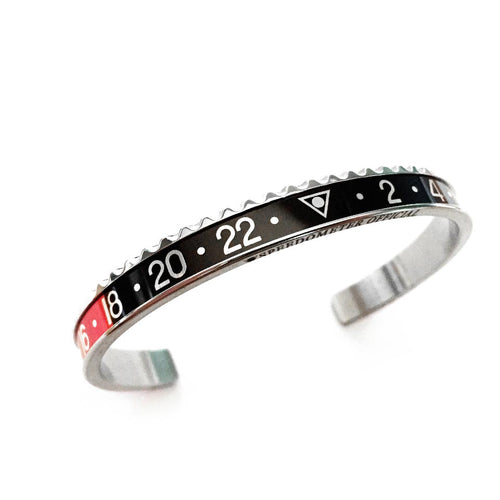 Classic Steel Bangle Black Insert