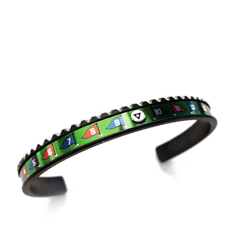 Black DLC Coated Steel Bangle Golf Limited Edition