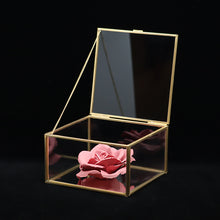 Load image into Gallery viewer, Ceramics Red Rose Perfume Diffuser in glass box 陶瓷紅玫瑰擴香玻璃盒擺設