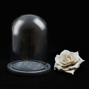 Ceramics White Rose Perfume Diffuser in glass box 陶瓷白玫瑰擴玻璃盒香擺設