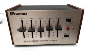 BSR METROTEC GRAPHIC STEREO FREQUENCY EQUALIZER VINTAGE.