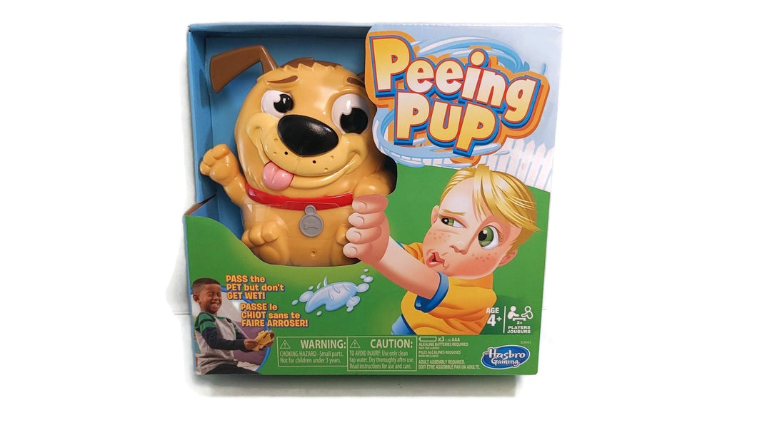 HUSBRO GAMING PEEING PUP PUPPY TOY DOG YELLOW BOY GIRL 4+ GAME PET PASS OOPS NEW