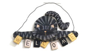 Cat Welcome Sign - Wall Hanger