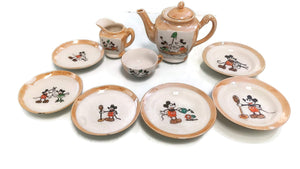 "DISNEY 1930's  ""MICKEY MOUSE CHINA TEA SET""- HAS SOME COSMETIC ISSUES"
