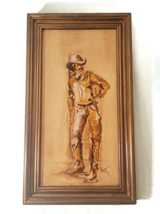 Cowboy Painting - Signed by Artist
