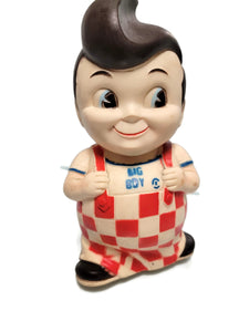 Vintage 1970's Rubber Bob's Big Boy Character Coin Bank