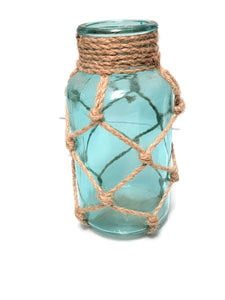 BLUE NAUTICAL ROPE JAR