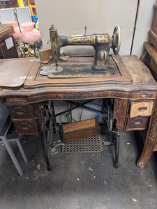 White Cabinet Rotary - Sewing Machine Table