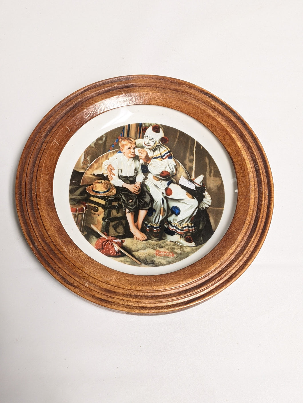1984 NORMAN ROCKWELL Clown And Child Small PLATE The Runaway