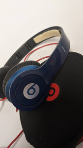 Beats by Dr. Dre Solo HD Blue Wired Headphones With Case