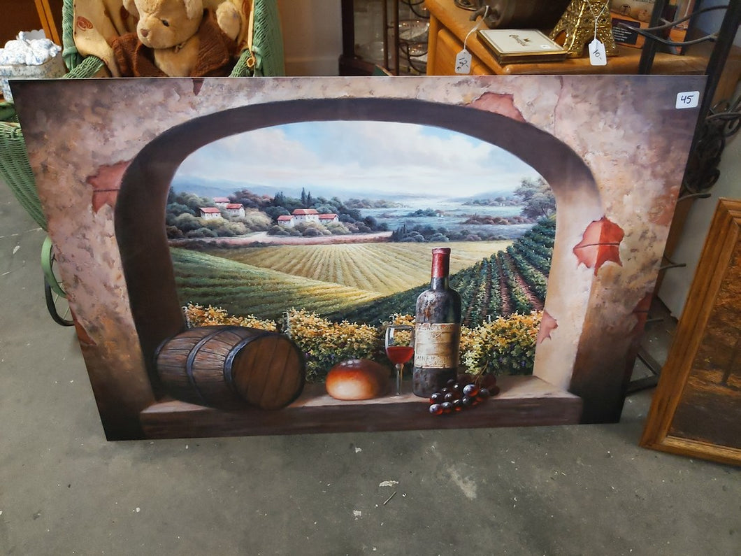 Large Metal - Winery Wall Art / Decor