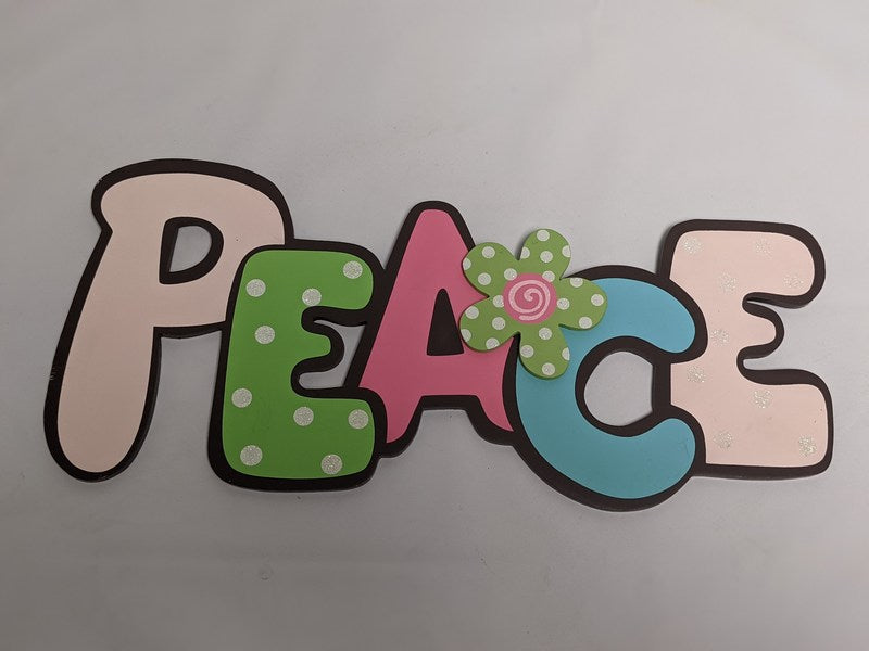 Peace - Colorful Kids Wall Sign