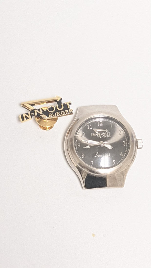 In & Out Burger Collectors Pin & Fossil Watch - NO BAND / BATTERY DEAD