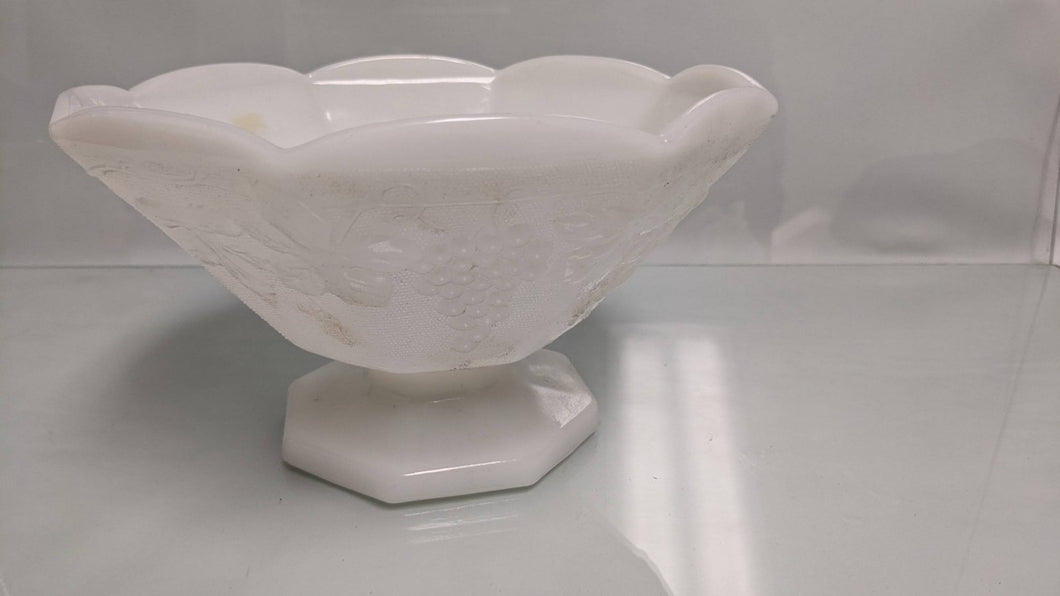 Milk Glass Candy Large Dish