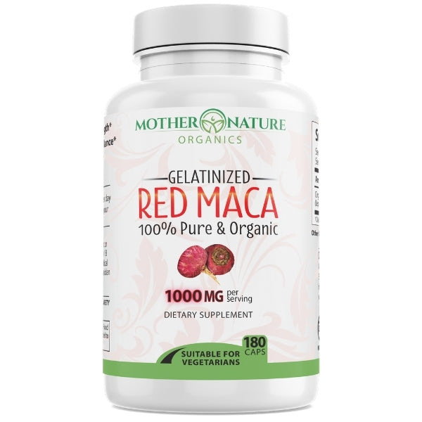 Red Maca Capsules - Mother Nature Organics