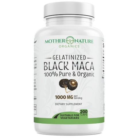 Black Maca Capsules - Mother Nature Organics