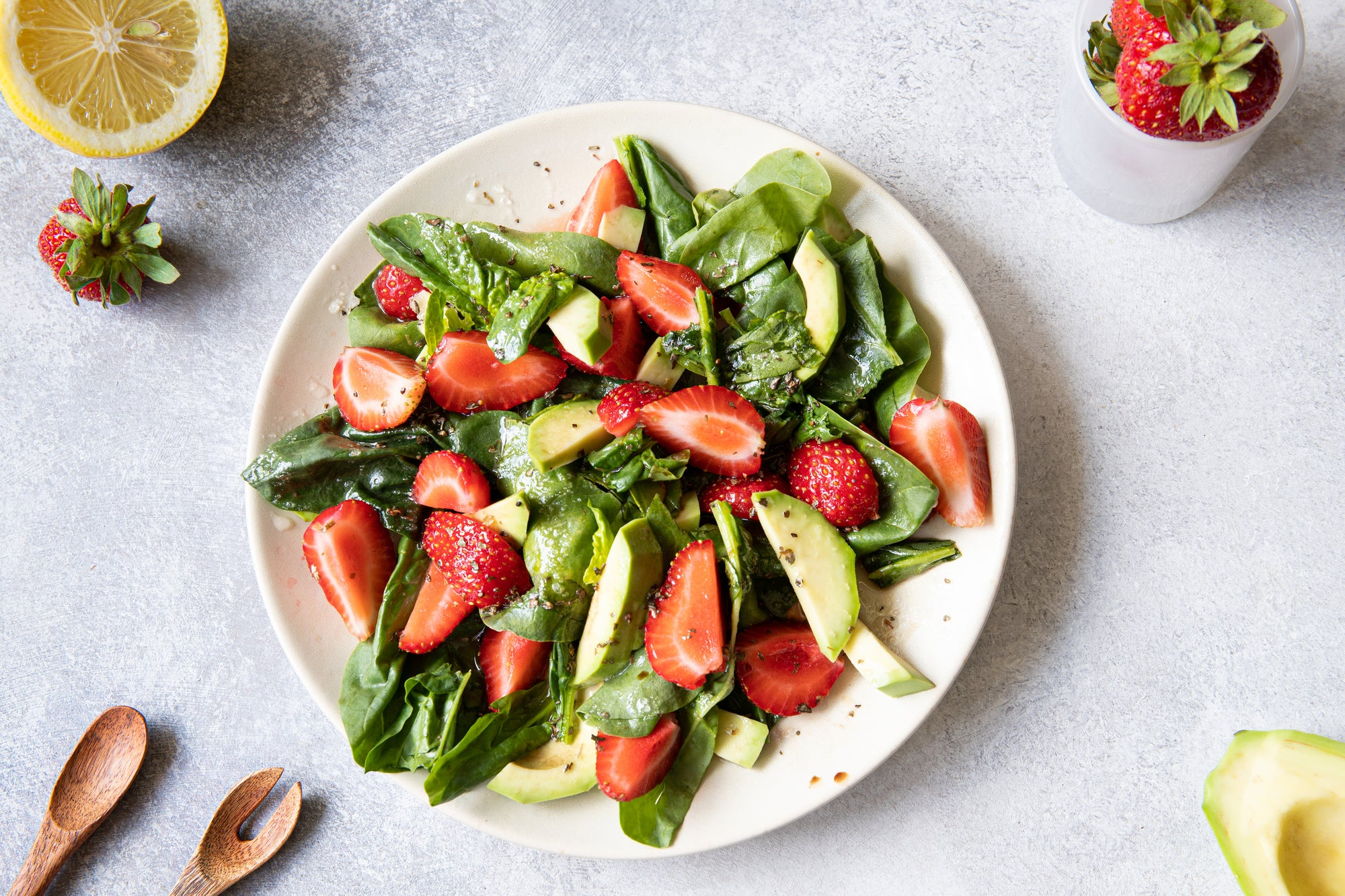 Almond Butter Strawberry Salad