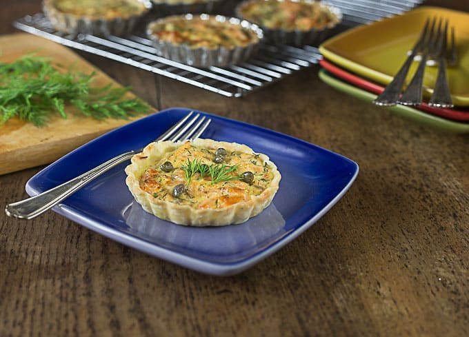 Smoked Salmon & Rosemary Protein Quiche Tartlets