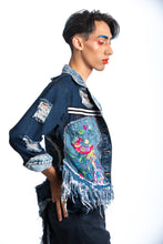 Load image into Gallery viewer, Skull & Denim Jacket
