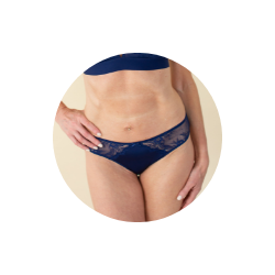 The Modern Match Bikini Panty is the best underwear for v-shaped butts
