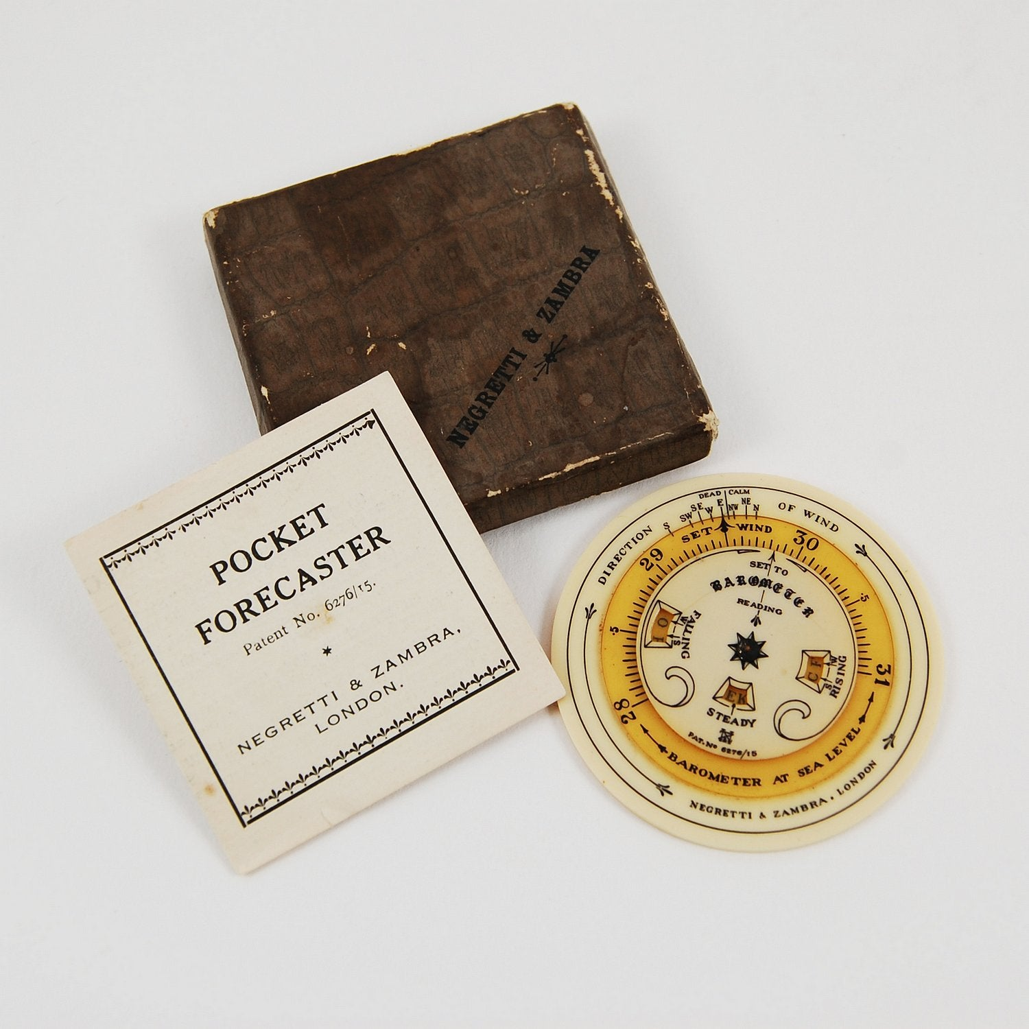 The Original Weather App: A 1915 Pocket Forecaster by Negretti & Zambra