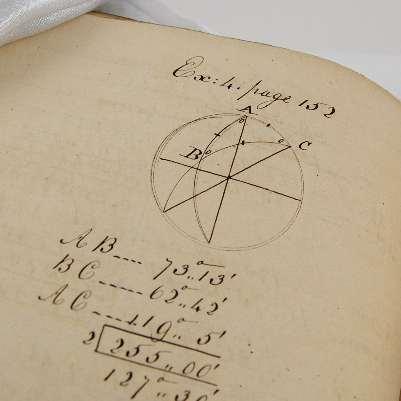 Bonnycastle, John | A student's manuscript of mathematical problems from A  Treatise on Plane and Spherical Trigonometry