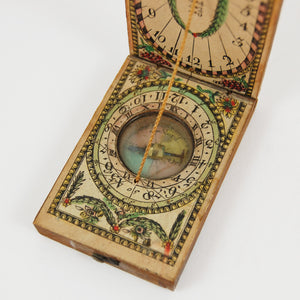 Beringer, David | Diptych Sundial and Compass in Fruitwood and Paper