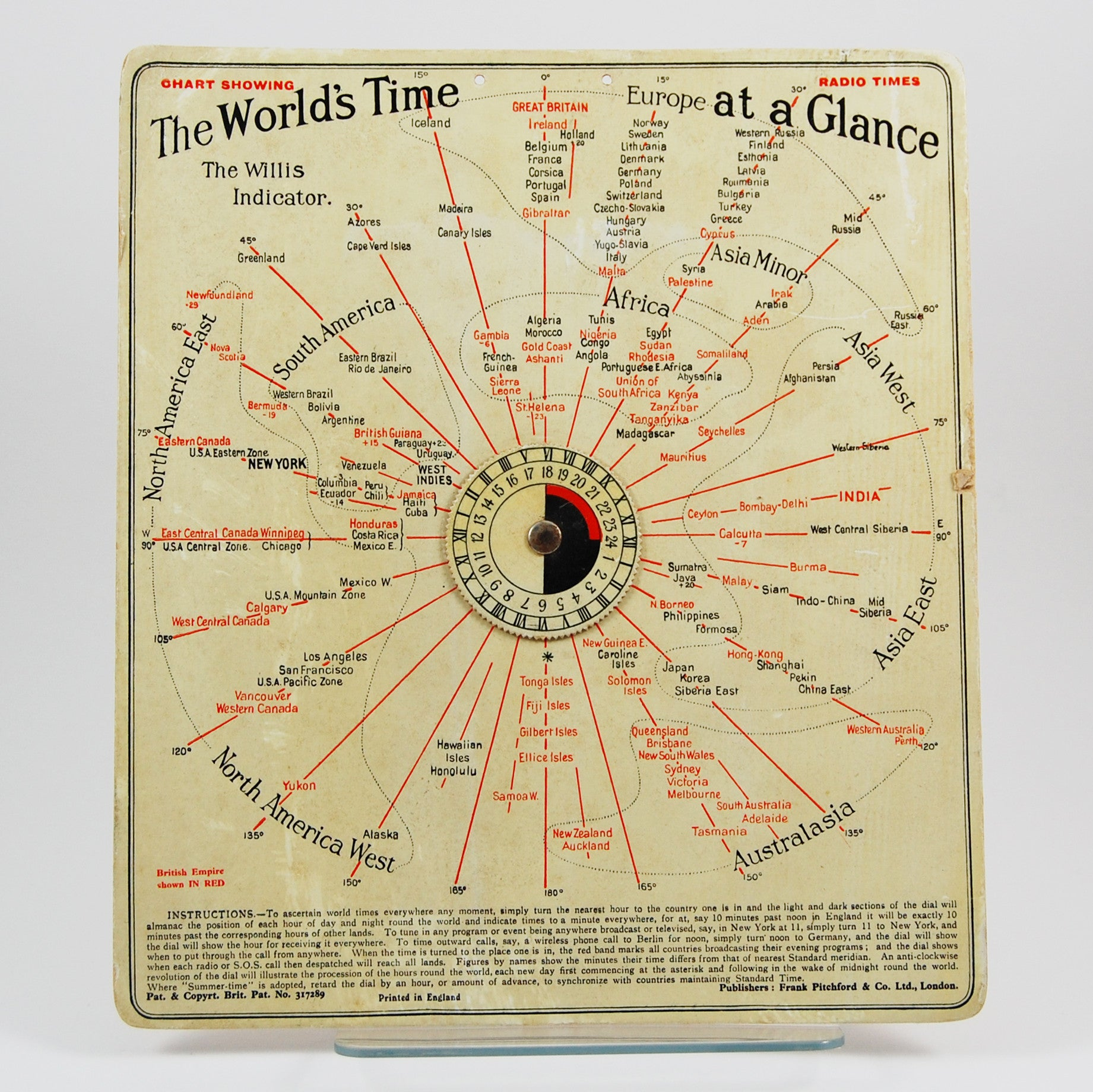 Willis, J. H. | The World's Time at a Glance. The Willis Indicator.