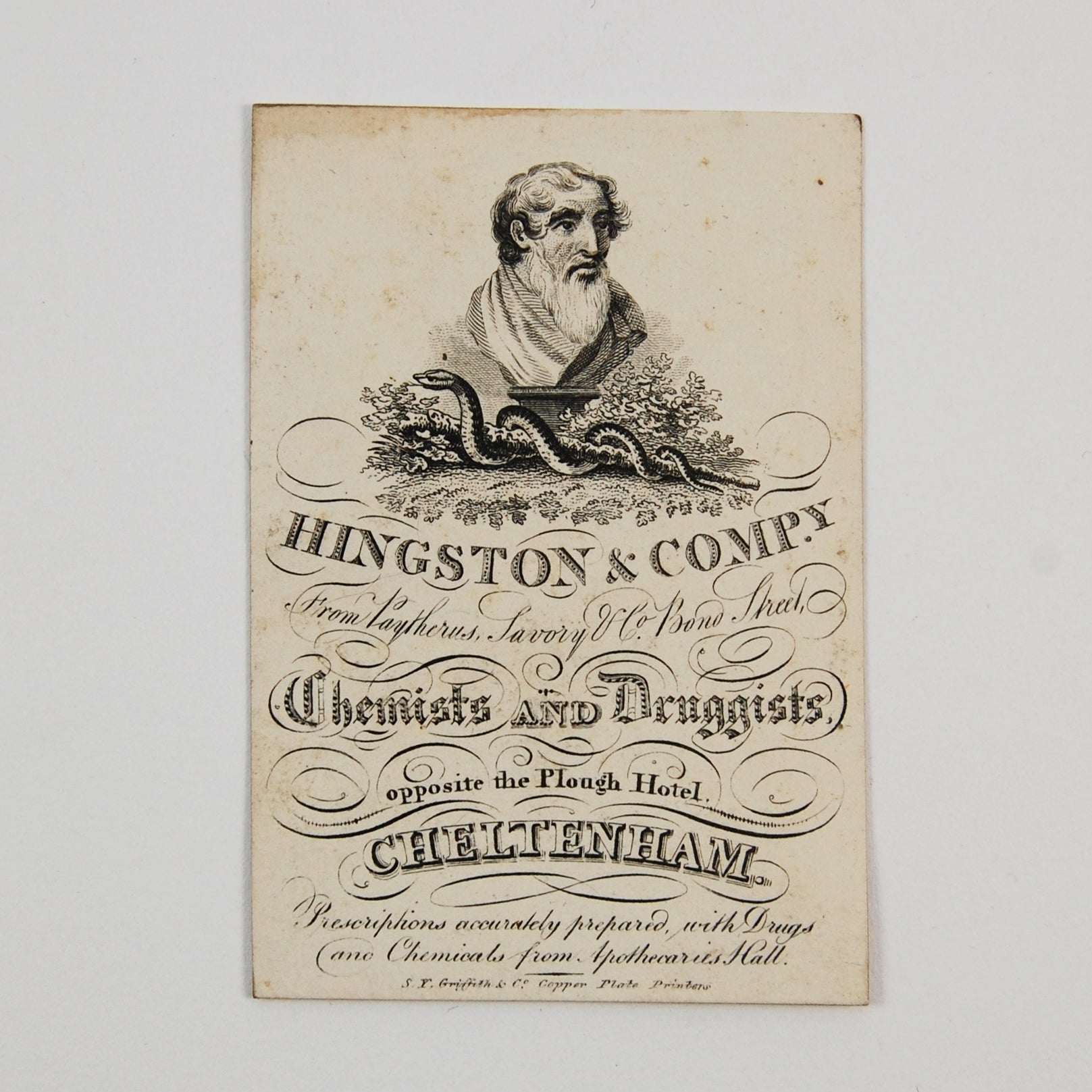Hingston & Company | Trade card of Hingston & Company, Chemists and Druggists
