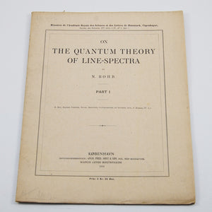 Bohr, Niels | On the Quantum Theory of Line-Spectra