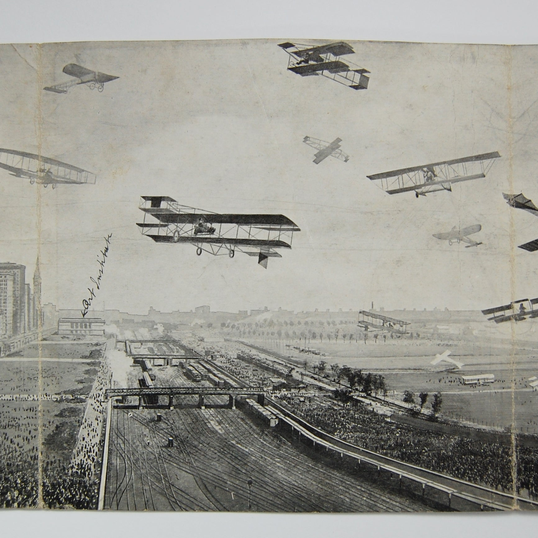 Max Rigo Selling Company | International Aviation Meet. Grant Park Chicago. Panoramic Post Card.