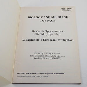 (European Space Agency) Bjurstedt, Hilding | Biology and Medicine in Space