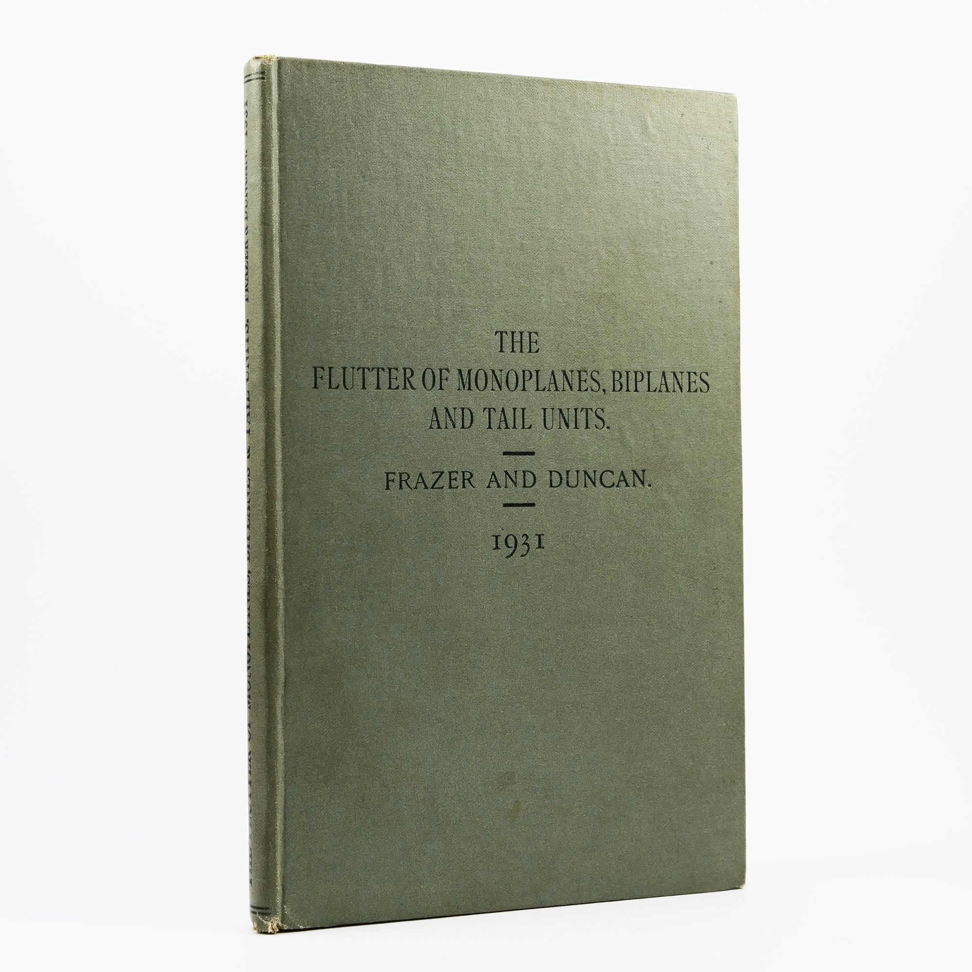 Frazer, R. A. & W. J. Duncan | The Flutter of Monoplanes, Biplanes and Tail Units