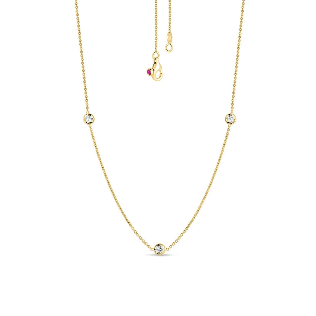 Diamond By the Yard 3 Station Necklace 0.15cts (18k Yellow Gold)