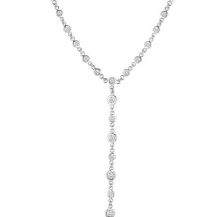 Diamond By the Yard Lariat Necklace 2.62ct (18k White Gold)