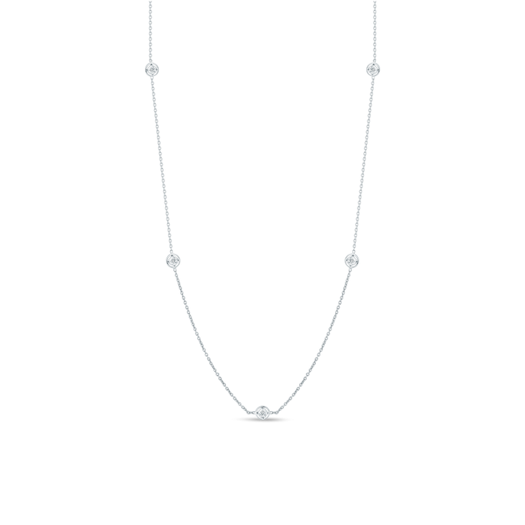 Diamonds By the Yard 7 Station Necklace .35cts (18k White Gold)