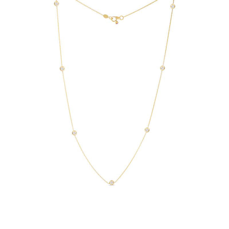 Diamonds By the Yard 7 Station Necklace .35cts (18k Yellow Gold)