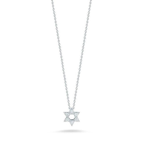 Diamond Star of David Necklace 0.09cts (18k White Gold)