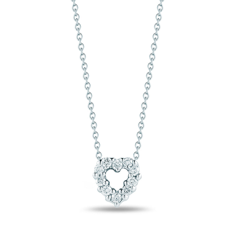 Diamond Baby Heart Necklace .11cts  (18k White Gold)