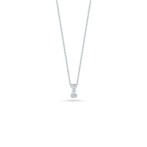 "Diamond ""I"" Love Letter Necklace (18k White Gold)"