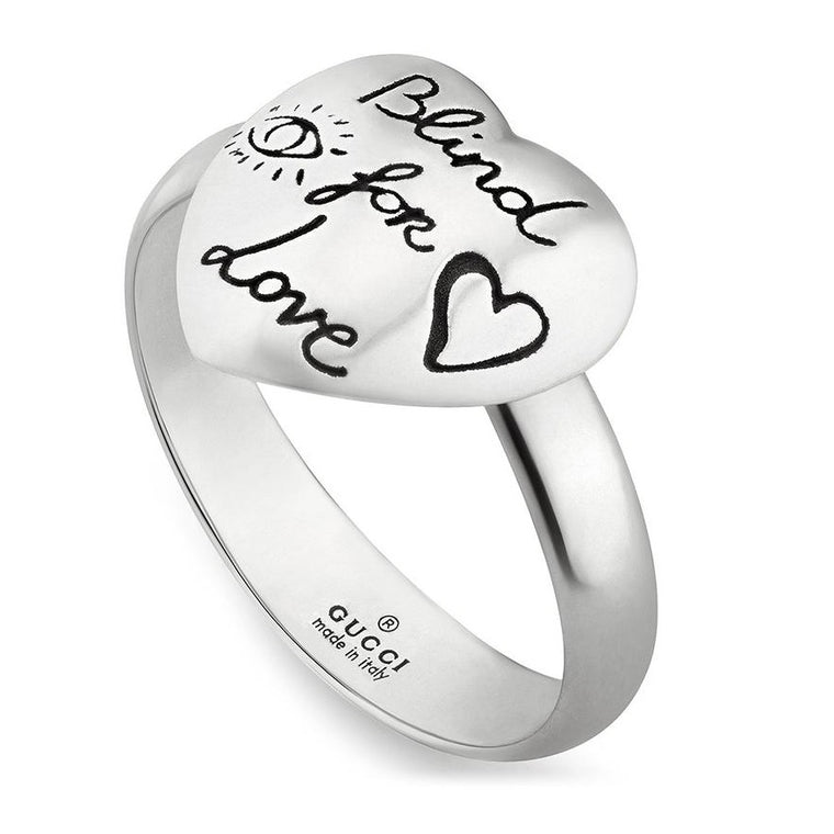 Blind For Love Heart Ring (sterling Silver)