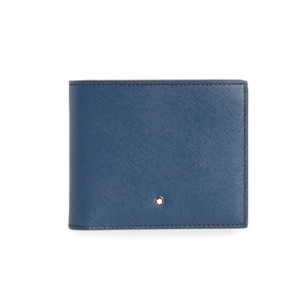 Indigo Leather 6 Card Sartorial Wallet