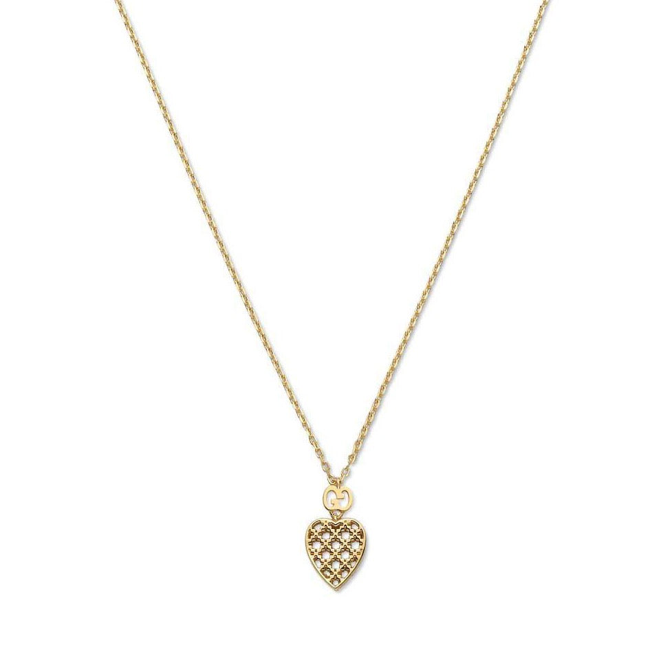 Datissima Light Heart Necklace (18k Yellow Gold)