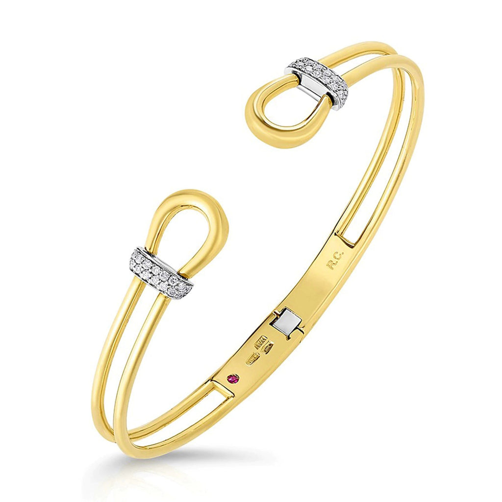 Diamond Cheval Bangle Bracelet (18k Yellow Gold)