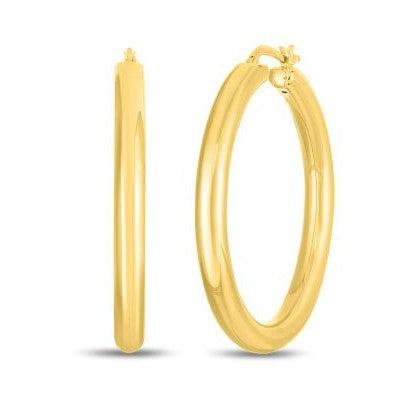 Oro 40mm Classic Hoop Earrings (18k Yellow Gold)